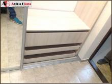 Шкаф с пескоструем на зеркале